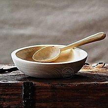 Nádoby - Drevený sedliacky tanier s lyžicou - 11623642_