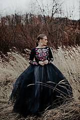 Šaty - dlhé vyšívané šaty Poľana - 11623084_