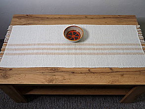 Úžitkový textil - RUČNĚ TKANÝ - OBRUS - PRESTIERANIE 2 - 11624017_