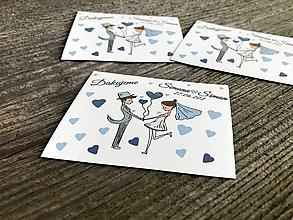 Darčeky pre svadobčanov - Svadobné magnetky v tvare obdĺžnika - 11624283_