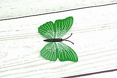 Iný materiál - Tmavozelený motýľ - 11623543_