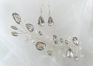 Sady šperkov - Ozdoba do vlasov a náušnice - 11624496_