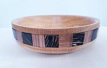 Nádoby - Miska dub s mozaikou - 11624379_