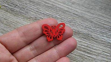 Polotovary - Drevený výrez motýľ 2,5 cm - výber z viac farieb, 1 ks - 11623887_