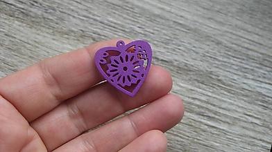 Polotovary - Drevený výrez srdce 2,5 cm - výber z viac farieb, 1 ks - 11623975_