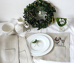 Úžitkový textil - Prestieranie  s  kapsičkou na príbor - 11624631_