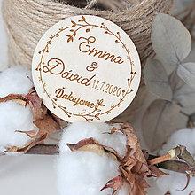 Darčeky pre svadobčanov - Svadobné magnetky - 11625098_