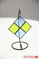 Dekorácie - Dizajnový vitrážový stojanček Sto Vitree - 11621831_