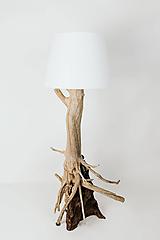 Svietidlá a sviečky - Drevená lampa Blended - 11624959_