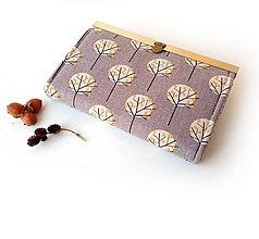 Peňaženky - Peňaženka s priehradkami Stromy - 11623916_