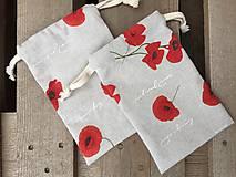 Úžitkový textil - makové vrecúška.... - 11621855_
