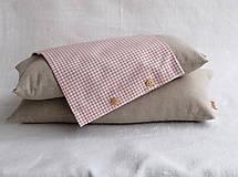 Úžitkový textil - Návliečka na šupkáč 40 cm (Staroružové káro) - 11621844_