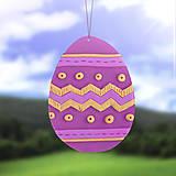Dekorácie - Nielen cik cak - vajíčko na zavesenie - 11622237_