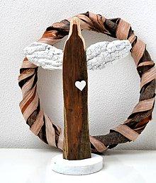 Dekorácie - Drevená dekorácia-Anjel - 11625603_