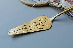 Pomôcky - Tortová lopatka s vlastným textom - 11628372_