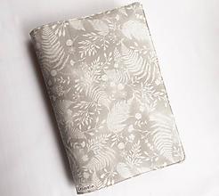 Papiernictvo - Obal na knihu - Pápradie (nastaviteľná veľkosť) - 11627016_