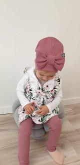 Detské čiapky - Detská  čiapka s mašľou  - 11625384_