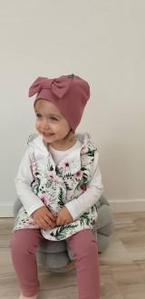 Detské čiapky - Detská  čiapka s mašľou  - 11625387_