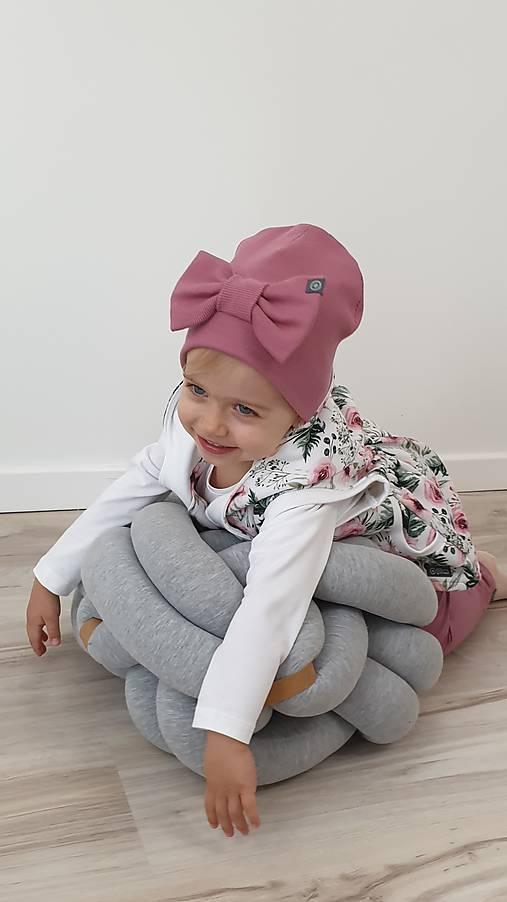 Detská  čiapka s mašľou