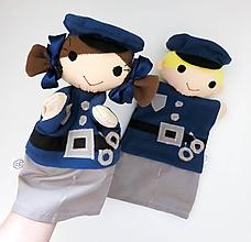 Hračky - Maňuška policajt / policajtka - na objednávku - 11628718_