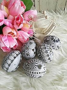 Dekorácie - Sada sivých madeirových kraslíc - 11627396_