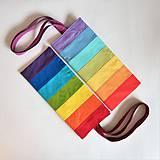 Nákupné tašky - Bavlnená taška dúhová pásikavá pastel - 11627097_