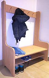 Nábytok - Botník s vešiakmi - 11625492_