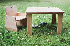 Nábytok - Detská stolička pre začínajúcich sediacich a stolujúcich - 11625517_