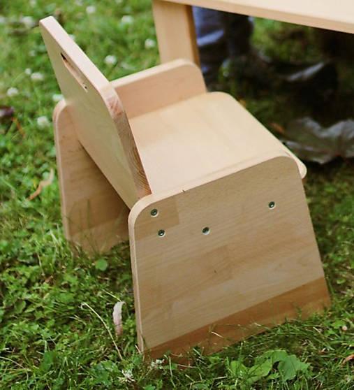 Detská stolička pre začínajúcich sediacich a stolujúcich