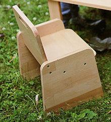 Nábytok - Detská stolička pre začínajúcich sediacich a stolujúcich - 11625514_