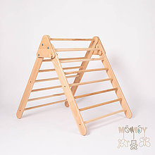 Hračky - Piklerovej triangel PRÍRODNÝ (Malý) - 11626842_