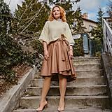 - SIMONA - zavinovacia jednofarebná sukňa (asymetrická) - 11627927_