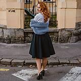 SIMONA - zavinovacia jednofarebná sukňa (s rovnakou dĺžkou)