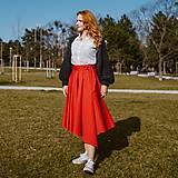 Sukne - ROMANA - zavinovacia jednofarebná sukňa - 11627944_