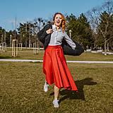 Sukne - ROMANA - zavinovacia jednofarebná sukňa - 11627945_