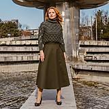Sukne - HELENA - zavinovacia jednofarebná sukňa - 11628124_