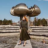 Sukne - HELENA - zavinovacia jednofarebná sukňa - 11628125_