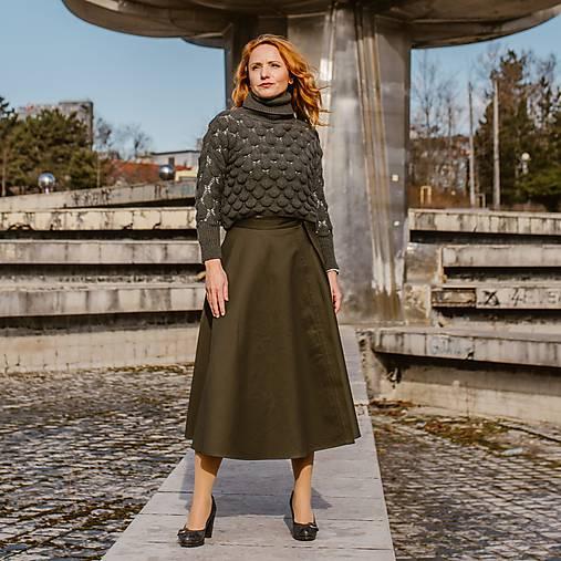 HELENA - zavinovacia jednofarebná sukňa