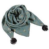 Detské doplnky - Mušelínový šálik- gold dandelion green - 11627149_