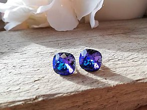 Náušnice - Swarovski crystal heliotrope - 11628691_