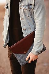 Na notebook - Kožené puzdro na tablet / notebook NOMAD Way bordové - 11625436_
