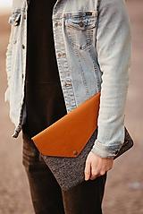 Na notebook - Kožené puzdro na tablet / notebook NOMAD Way horčicové - 11625480_