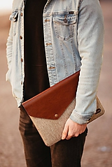 Na notebook - Kožené puzdro na tablet / notebook NOMAD Way hnedé - 11625484_