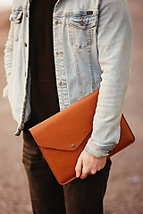 Na notebook - Kožené puzdro na tablet / notebook NOMAD Leather horčicové - 11625510_