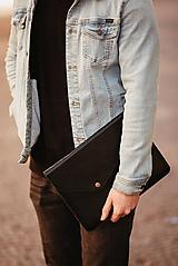 Kožené puzdro na tablet / notebook NOMAD Leather čierne