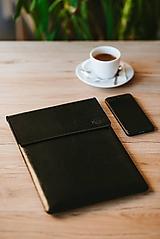 Kožené puzdro na tablet / notebook Clear čierne