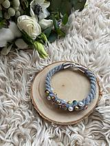 Náramky - Pošitý perlami - náramek - 11627664_