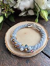 Náramky - Pošitý perlami - náramek - 11627665_