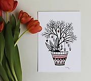 Grafika - Láska kvitne na stromoch - 11627686_