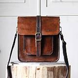 Pánska kožená taška *stredne-hnedá*